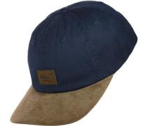 Curved Suede Cap blau braun