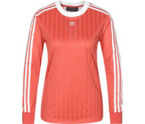 3 Stripes Longsleeve Damen rot