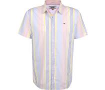 ulti Stripe Herren Kurzarhed pink blau gelb