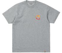 Burning C T-Shirt grau