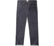 Ed-55 Regular Tapered Red Listed Selvage Jeans blue unwashed