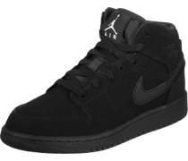 1 Mid Gs Hi Sneaker Schuhe schwarz schwarz