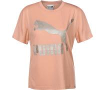 Classics Logo T-Shirt Damen pink silber