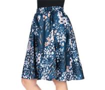 Skirt W Rock Damen blau schwarz weiß EU