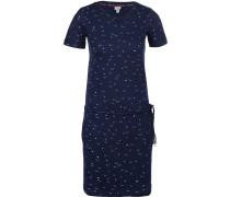 Printed Kleid Damen blau