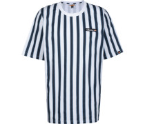 Coral Herren T-Shirt weiß blau gestreift