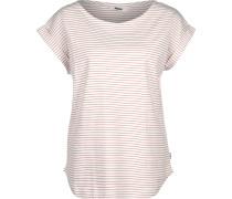 Weoto Bell Stripe Daen T-Shirt weiß pink gestreift