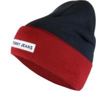Logo Beanie blau rot