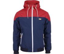 Insulaner Jacke blau rot