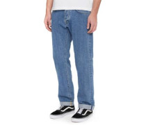 Ed-55 Regular Tapered Red Listed Selvage Jeans heavy stone dot