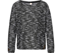 Homy Crew W Sweater schwarz weiß meliert