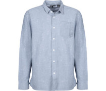 One Pocket Langarmhemd blau