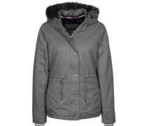 Padded With Fur ining Damen Winterjacke grau