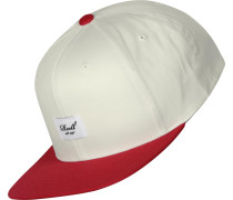 Pitchout 6-Panel Snapback weiß rot