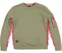 Rbf Inlay Sweater Herren oliv