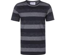 Herren T-Shirt bau gestreift