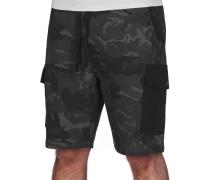 Cargo Jogger Herren Shorts black camo