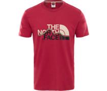 Mountain Line T-Shirt Herren rot