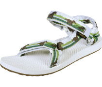 Original Universal Damen Sandalen grün braun weiß