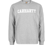 College Sweater grau meliert weiß