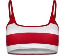 Club Stripes Bralette Bikini Oberteil Damen rot weiß gestreift