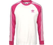 3 Stripes Longsleeve Herren weiß pink EU