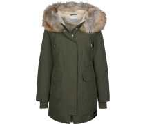 Mid Weight Nylon Daunenjacke Damen oliv