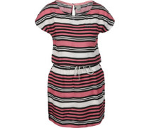Woven Stripe Print W Kleider Kleid pink schwarz weiß pink schwarz weiß