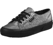 Plisselamew W Schuhe schwarz silber