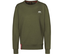 Basic Small Logo Herren Sweater oliv