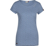 Mint Dots T-Shirt Damen blau