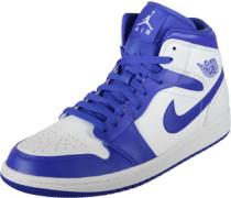 1 Mid Schuhe blau weiß