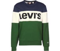 Coorbock Crew Sweater Herren grün weiß bau EU