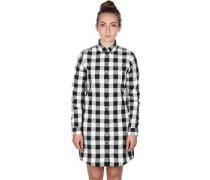 Gingham Shirt W Kleid schwarz weiß kariert