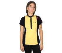 Panelled Pique W Polo schwarz gelb