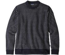 Recycled Wool Herren Wollpullover blau