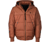 Whitler Hooded Bomber Winterjacke braun