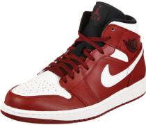 1 Mid Schuhe rot weiß schwarz