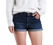 High Rise Shorts Damen blue forest