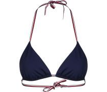Tommy Hifiger Core Soid Basic Triange Bikini Obertei Damen bau