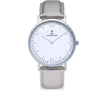 Campina Silver Metallic Leather Uhr silver metallic