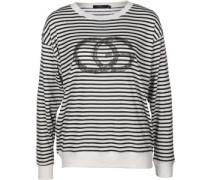 Dazed Crew W Sweater schwarz weiß gestreift