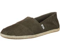 Alpargata Schuhe oliv braun