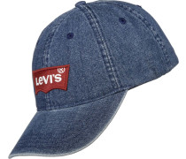 Big Batwing Ball Denim Cap blau