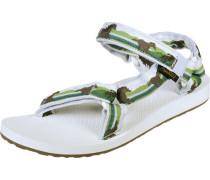 Original Universal W Sandalen grün braun weiß