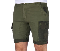 Camo Pocket Herren Shorts oliv