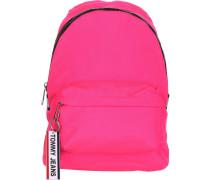 Logo Tape MI Damen Rucksack pink neon