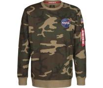 Space Shuttle Herren Sweater oliv braun beige