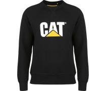 Cat Logo Roundneck Herren weater chwarz