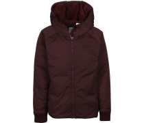 Short Down Damen Winterjacke weinrot